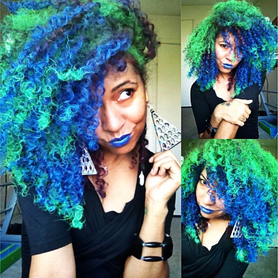 amazing dye jobs for african american hair purple rain