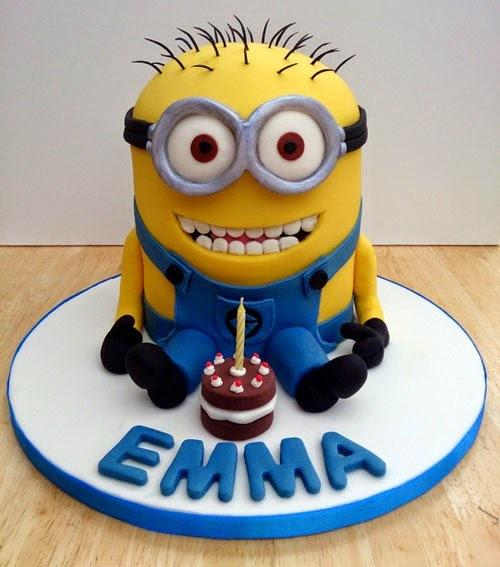 Minion Birthday Cake Candles