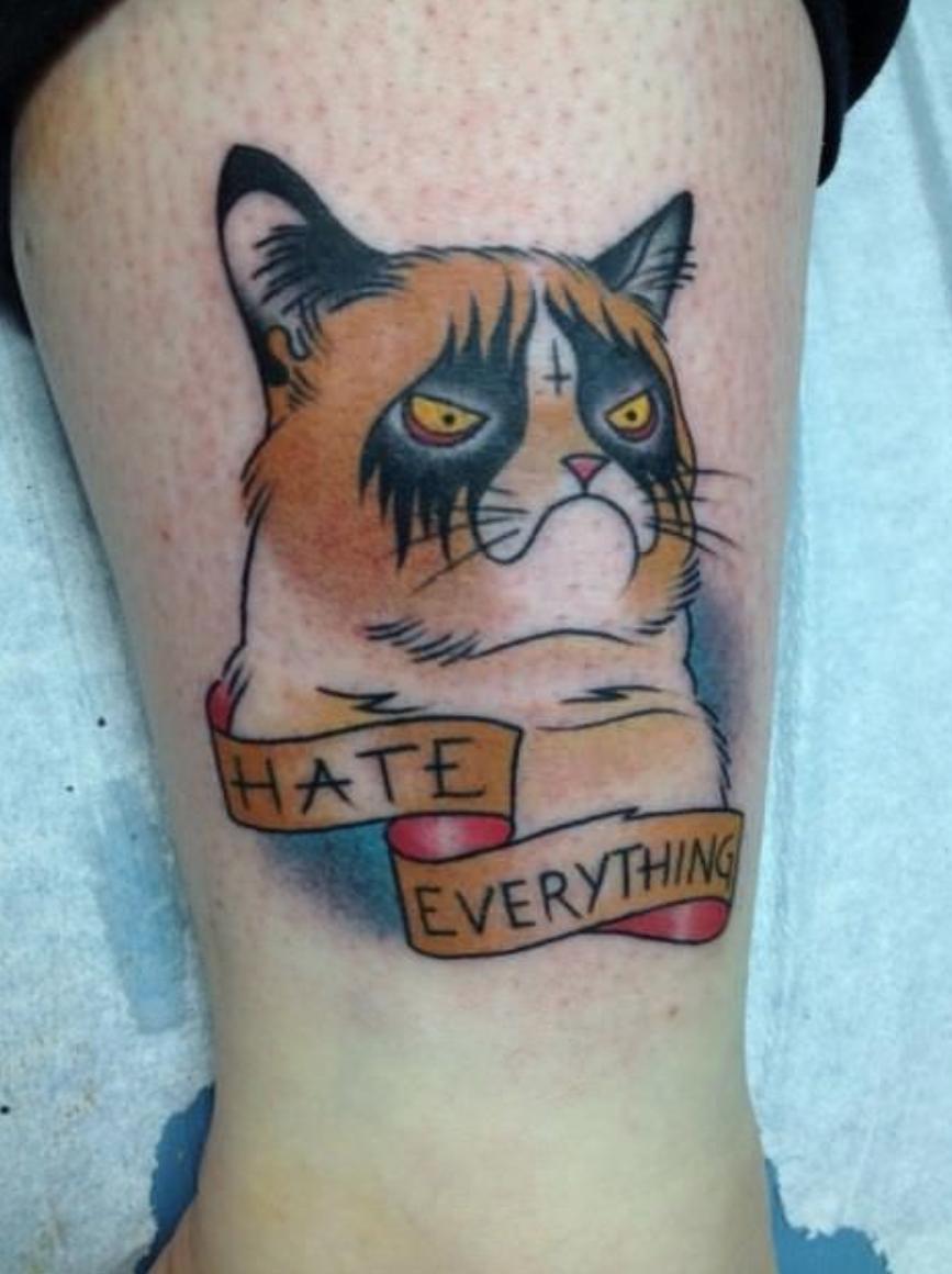 Татуировки виде кота фото