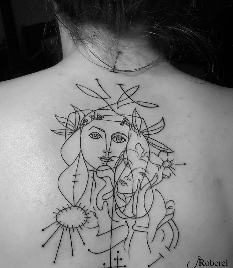 Line Drawing Picasso Tattoo : Get artsy with these picasso inspired tattoos head of a
