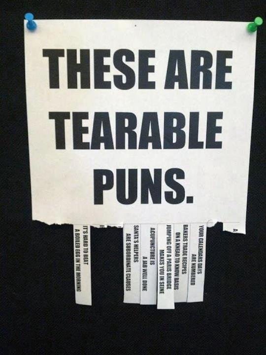 puns guaranteed to make you smile tearable puns guff