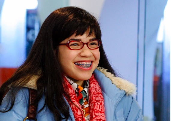 America Ferrera as ugly betty