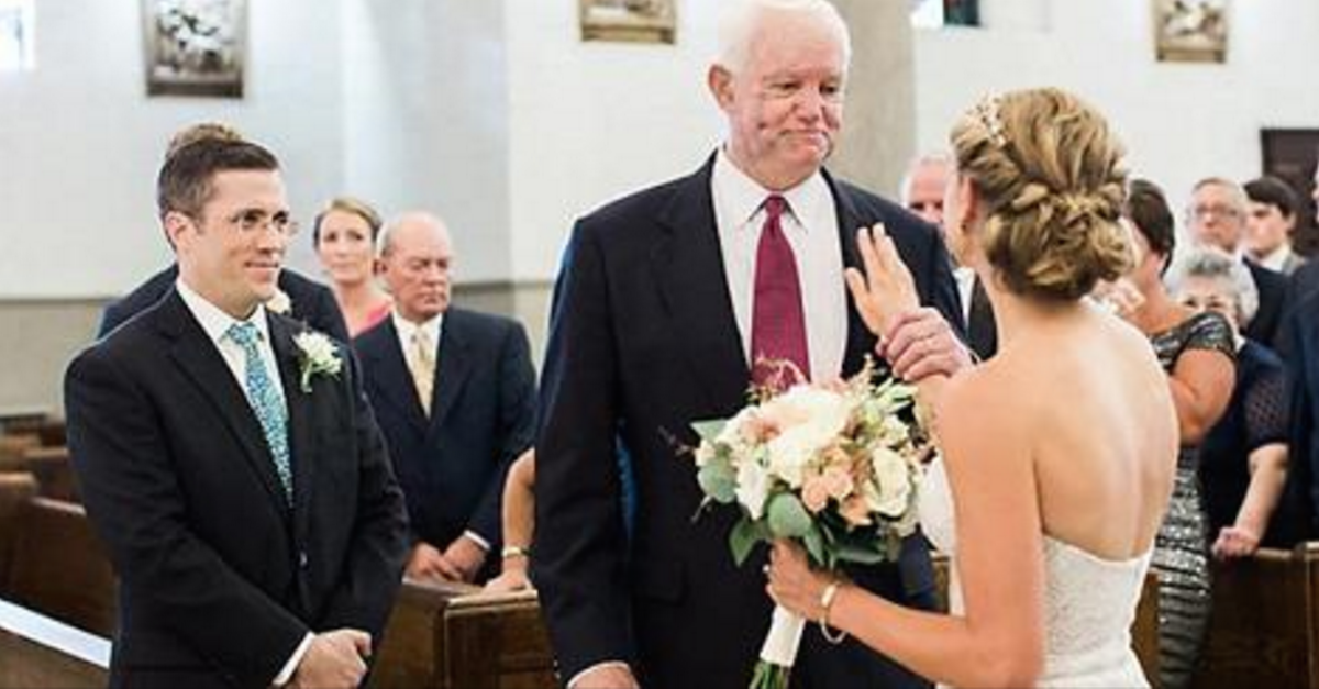This Bride's Father Was Murdered 10 Years Ago, But His Heart Was Still Around To Walk Her Down The Aisle