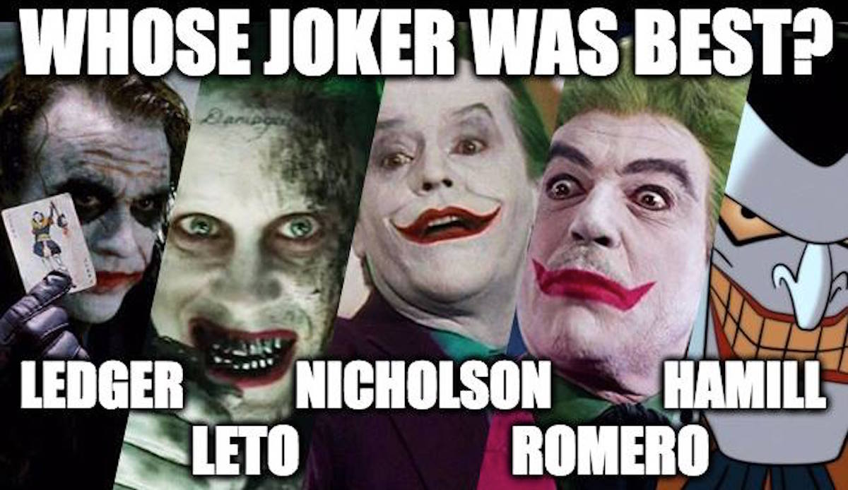 Ranking The Many Incarnations Of The Infamous Joker