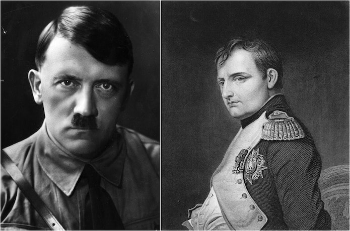 a comparison of the similarities between the lives of napoleon bonaparte and adolf hitler Adolf hitler forged an alliance with stalin in 1939, but broke that alliance when he attacked the soviet union  6 pages 11 oct/2008 30 the russian revolution.