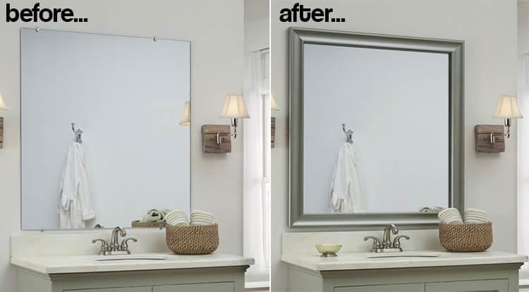 do it yourself bathroom mirror frame these genius and easy diy bathroom ideas will you 25239